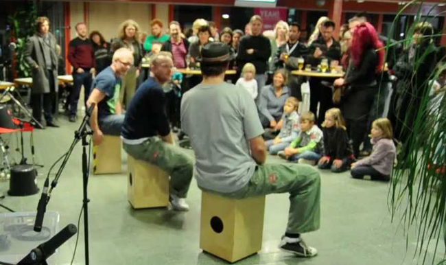 Spaanse thema feest percussion